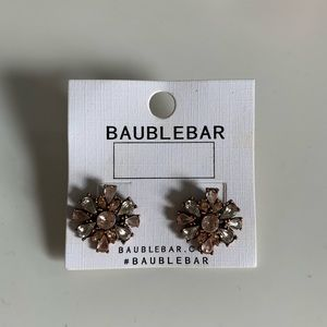 Bauble Bar floral statement earrings